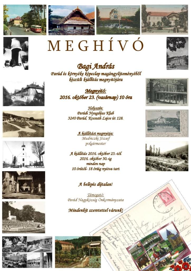 Képeslap kiállítás (meghívó)
